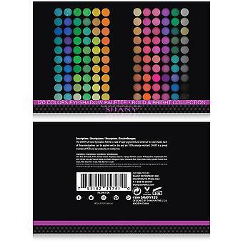 SHANY 120 kleuren oogschaduw palet, vet en heldere collectie, levendige kleuren