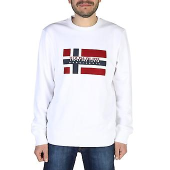 Napapijri  men's visible logo prints long sleeves sweatshirt
