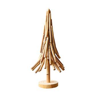 Creative Christmas Tree Shape Wooden Stick Craft Home Decoration