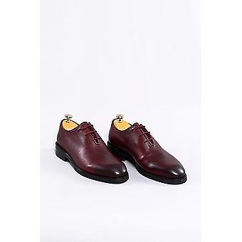 أحذية جلدية بورجوندي كلاسيكية | wessi