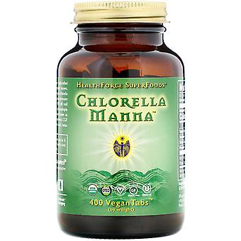 HealthForce Superfoods, Chlorella Manna, 400 VeganTabs