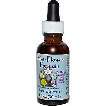 Flower Essence Services, Five-Flower Formula, Flower Essence Combination, 1 fl o