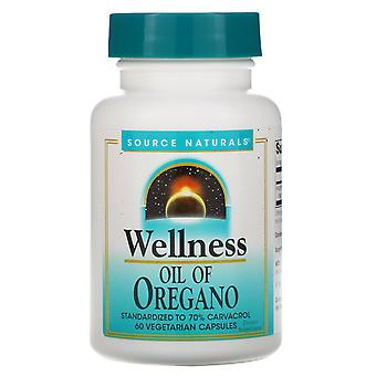 Source Naturals, Wellness, Oil of Oregano, 60 Vegetarian Capsules