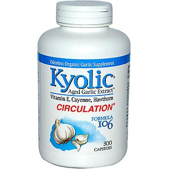 Kyolic, Aged Knoflook Extract, Circulatie, Formule 106, 300 Capsules