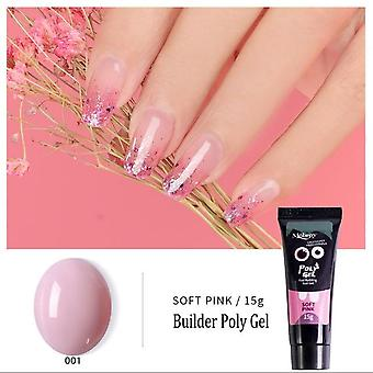 Nail Acrylic Pink, White, Clear Crystal Uv Led Builder, Tips Enhancement Slip