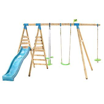 TP Toys Galapagos Wooden Swing Set and Slide With Monkey Seat