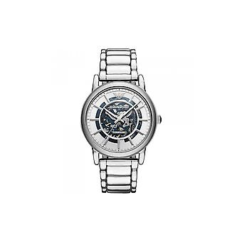 Armani Watches Ar60006 Meccanico Silver Stainless Steel Automatic Men's Watch