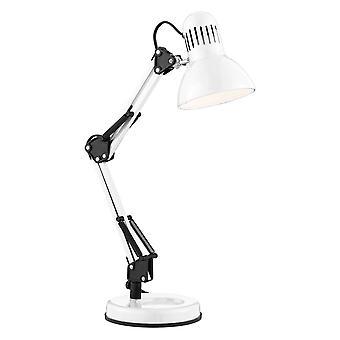 Searchlight Desk Partners - 1 let justerbar bordlampe hvid, E27