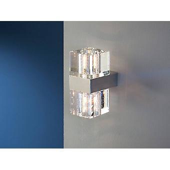 2 Lampa ścienna z kryształu świetlnego Chrom, G9