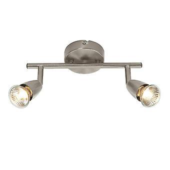 2 Light Spotlight Satin Nickel, GU10