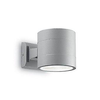 1 Light Outdoor Up Down Wall Light White, Grey IP54, G9
