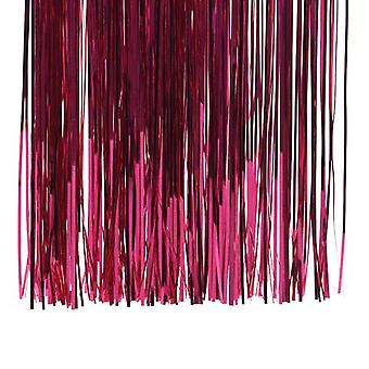 50cm Berry Pink Foil Lametta Tinsel for Christmas Decoration