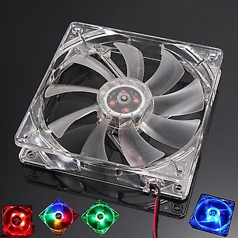 Quad 4 Led Light Pc Computer Cooling Fan Mod Quiet Molex Connector Easy Installed