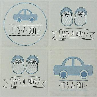 It's a Boy Stickers Single Sheet 35 Stickers - Baby Shower / New Baby