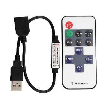 11 Tasten Led Strip Controller -mini Dimmer Rf Remote 5v Usb Interface Controller