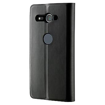 Sony Xperia XZ2 Compact - Standing Book Cover Hülle - silber