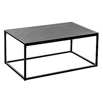Contemporary Industrial Coffee Table - Black Wood / Steel Frame - 110 x 60 x 46cm