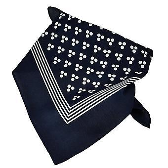 Krawatten Planet Navy blau mit weißen 3-Punkt & Streifen Bandana Neckerchief