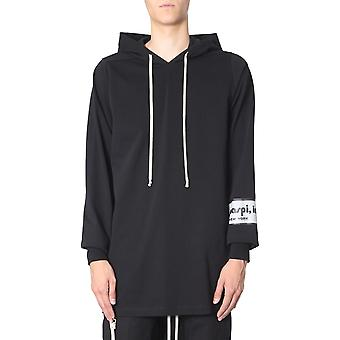 Rick Owens Rr19f4285baeh809 Men's Black Cotton Sweatshirt