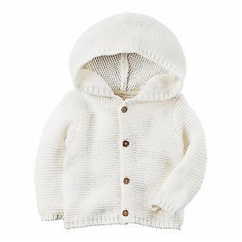 حديثي الولادة سترة معطف الرضع الفتيان الفتيات الكارديجان هودي الخريف الملابس الشتوية