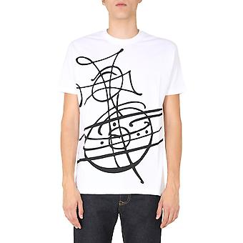 Vivienne Westwood 3701003821719a401 Men''s White Cotton T-shirt