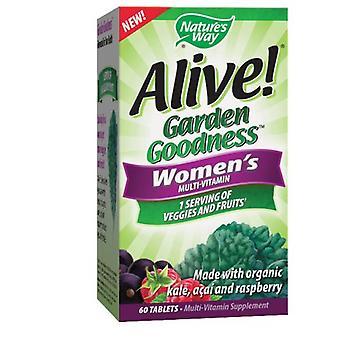 טבע וטבע חי! גן טוב נשים & apos;s מולטי ויטמין, 60 כרטיסיות