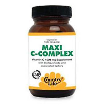 Country Life Maxi-C Monimutkainen C-vitamiini, 1000 MG, 180 Tabs