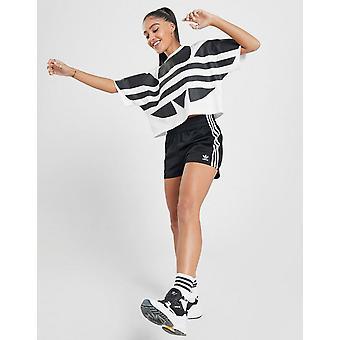 Noi adidas Originals Femei 3-Stripes Poly Shorts Negru / Alb