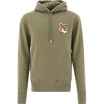 Maison Kitsuné Fu00384km0001kh Men's Green Cotton Sweatshirt