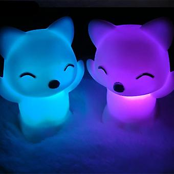 7 Changing Colors, Fox Shape, Led Light For Bedroom Decoration Or Kids Toy