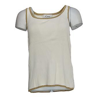 Linea por Louis Dell'Olio Women's Sweater Ribbed Tank Sweater White A58623