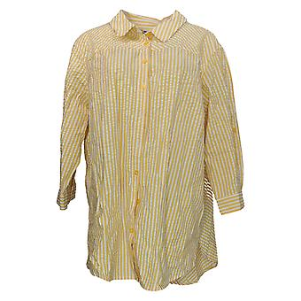 Joan Rivers Classics Collection Women's Top Button Up Yellow A306406