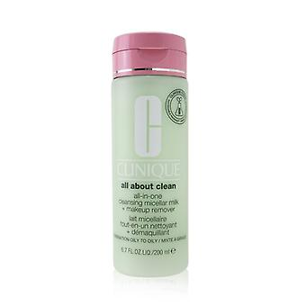 Clinique All about Clean All-In-One Cleansing Micellar Milk + Makeup Remover - Combination Oily to Oily 200ml/6.7oz