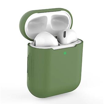SIFREE Flexible Case for AirPods 1/2 - Silicone Skin AirPod Case Cover Supple - Khaki