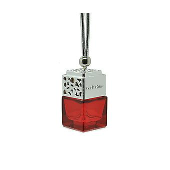 Designer In Car Air Freshner Diffuseur Oil Fragrance ScentInspired By (Gucci Oud Unisex) Parfum. Couvercle chromé, bouteille rouge 8ml