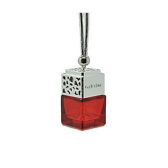 Designer In Car Air Freshner Diffuser Oil Fragrance ScentInspired By (Gucci Oud Unisex) Perfume. Chrome Lid, Red Bottle 8ml