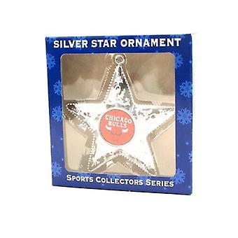 Chicago Bulls NBA Sports Collectors Series Silver Star Ornament