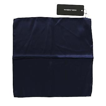 Dolce & Gabbana Blue Silk Square Handkerchief