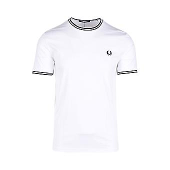 Fred Perry Twin Tipped T-paita Valkoinen