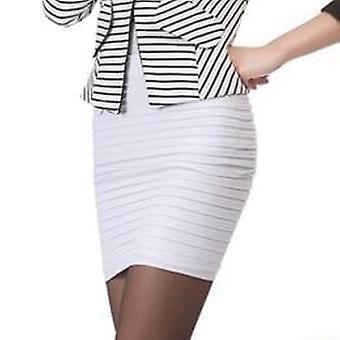 أرخص أزياء جديدة الصيف المرأة تنورة عالية الخصر حلوى اللون بالإضافة إلى حجم
