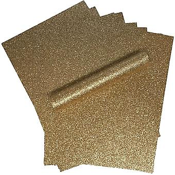 Ruusukulta Glitter Card A4 Sparkly Soft Touch Non Shed 250gsm Pakkaus 10 arkkia