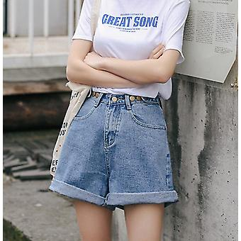 Streetwear High Waist Wide Leg Denim Shorts