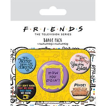 Vrienden Quote Badge (Pack van 5)