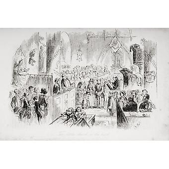 The Little Church In The Park Illustration By Phiz (Hablot Knight Browne) 1815-1882 From The Book Bleak House By Charles Dickens Published London 1853 PosterPrint