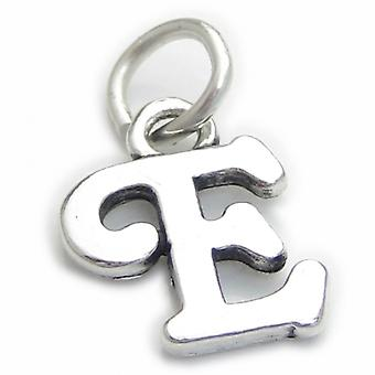 Script Letter E Initial Sterling Silver Charm .925 X 1 Letters Charms - 4257