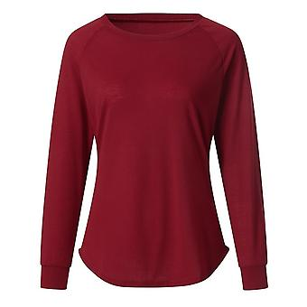 Women Foundation Solid Color O-neck T-neck Casual Fashion, Outdoor Skate