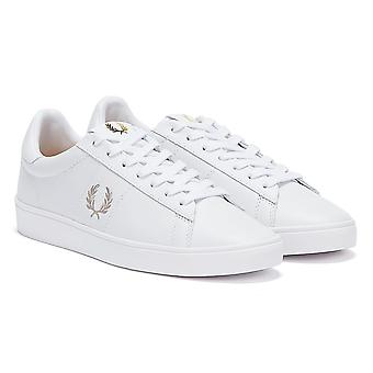 Fred Perry Spencer Leather Mens White / Silver Trainers