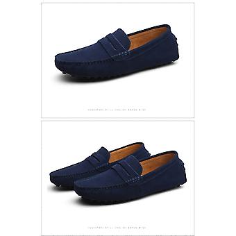 Men Loafers Soft Moccasins High Quality Spring Autumn Genuine Leather Shoes