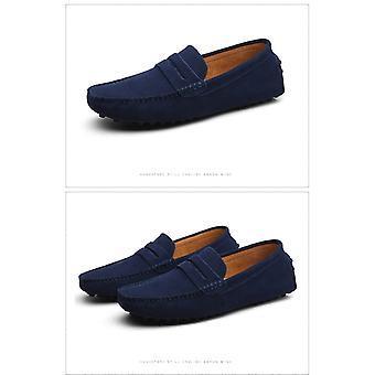 الرجال المتسكعون الناعمة Moccasins عالية الجودة الربيع الخريف أحذية جلدية حقيقية