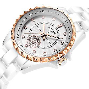 LONGBO 80027 Kristall Quarzuhr Exquisite Zifferblatt Casual Frauen Armbanduhr